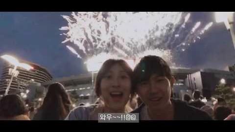 (한중국제커플) 韓中情侶 중국남친과 멜버른 불꽃 축제 즐기기~~!!