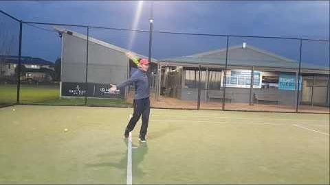 호주 멜번 테니스/Tennis in Melbourne/원핸드백핸드 높은볼처리하기/How to handle high ball with one handed backhand/