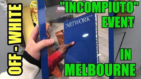 """OFF WHITE """"INCOMPIUTO"""" EVENT IN MELBOURNE 오프화이트 이벤트 인 멜버른"""