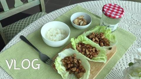 [멜번 주부 일상 브이로그] 닭가슴살 맛있게 먹기! 치킨 레터스랩
