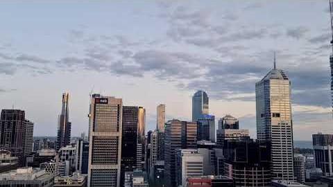 멜버른 시티에서 찍은 해