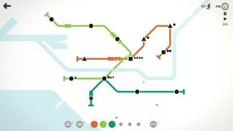 미니 메트로 (Mini Metro) - Daily Challenge 멜버른 플레이 영상 (Daily Challenge Melbourne Play) / 032920