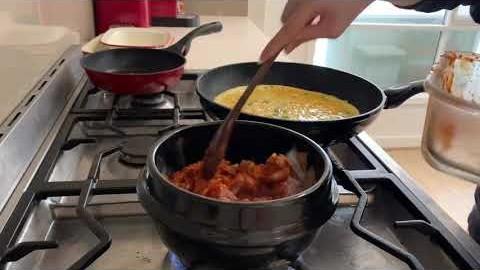 멜번세끼, 주말 요리 브이로그 (비빔면, 김치찌개, 페스토파스타 만들기)