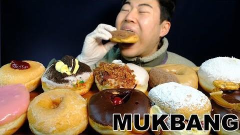 리얼사운드) 오랜만에 당충전!만칼로리폭탄 멜버른 가성비갑 !!워커스도넛ㅣWalker's DoughnutsㅣMukbang Eating Show Mì cá hồiㅣREAL SOUNDS