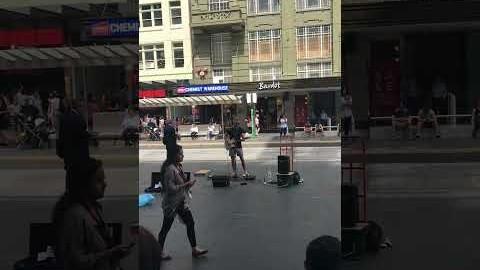 멜버른의 흔한 버스킹(2018) #shorts