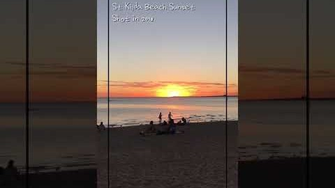 멜버른의 흔한 해변 선셋(2018) #shorts